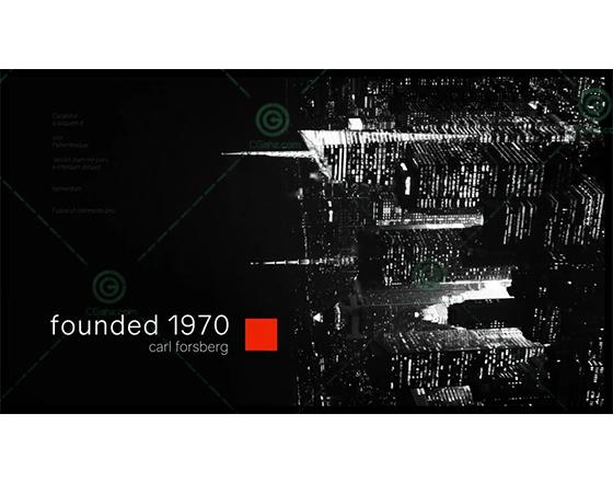 黑白风格的城市宣传AE模板