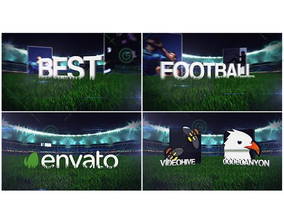 震撼的足球主题宣传AE片头模板