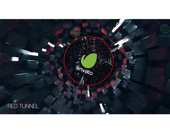 科幻的三维时空隧道中字幕展示片头AE模板