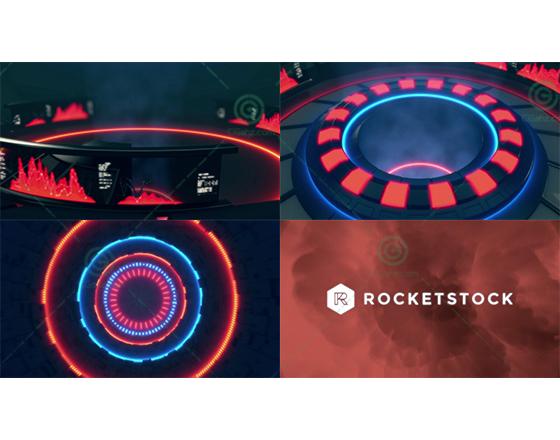 工业科技感十足的LOGO演绎片头AE模板,3色