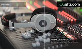 V-Ray 3.4 3ds Max新增功能之Denoiser 速度提升一倍