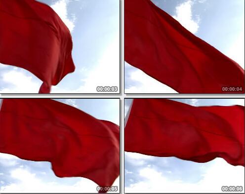 红旗飘扬视频片段