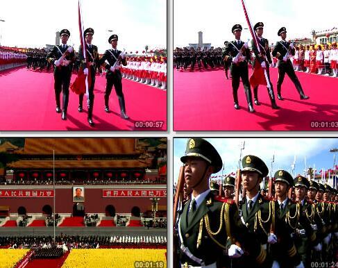 升旗仪式是视频片段