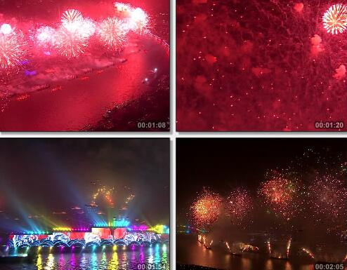 上海世博会绚丽的如烟花视频片段