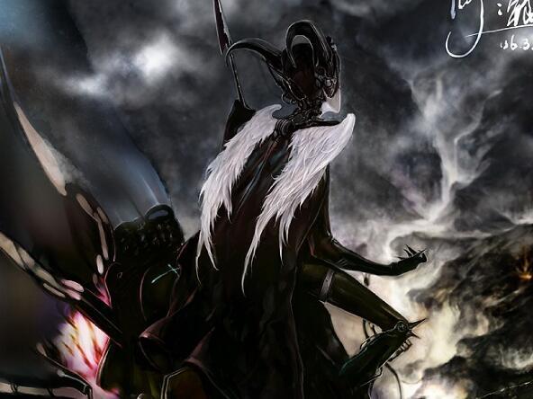 暗黑風格的游戲角色原畫作品集