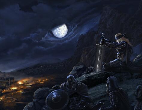 暗黑風格的游戲場景原畫作品集