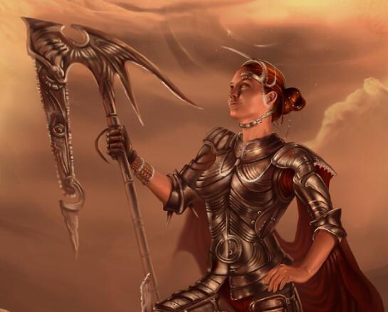 游戏中的女性角色原画