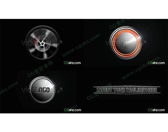 模拟极速旋转在轮胎效果AE LOGO演绎模板