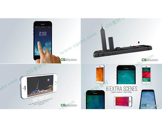 超酷的手机APP演示AE模板免费下载