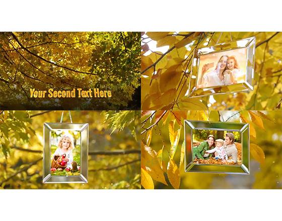 浪漫温馨的秋天氛围AE相册模板