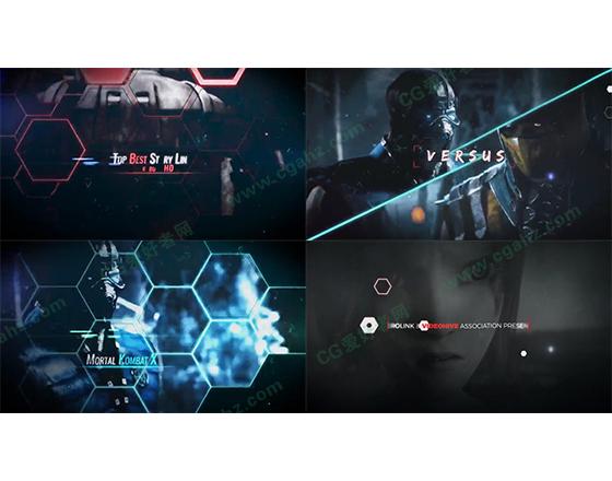 游戏电影预告片AE模板
