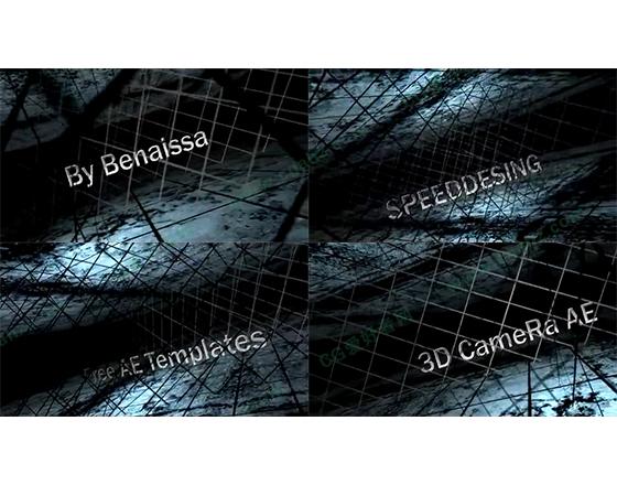 铁丝网内的立体字幕展示AE模板