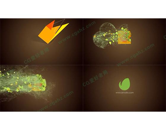 图形动画和粒子飘散完美结合的LOGO演绎AE模板