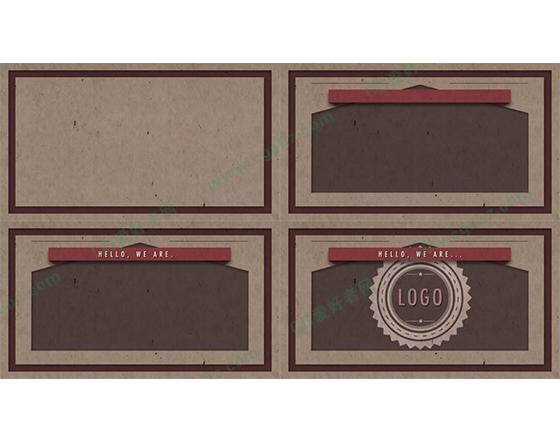 简单的复古信封生成动画AE模板