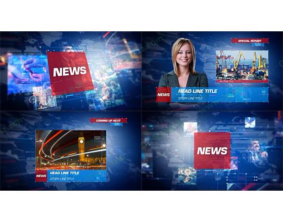 现代科幻风格的新闻栏目包装AE模板