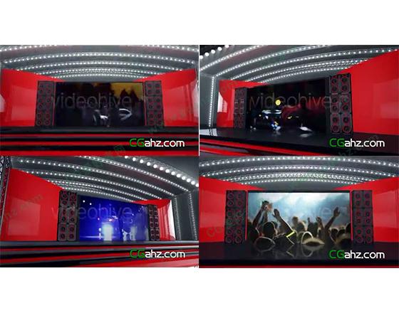 动感三维舞台上的LED大银幕展示