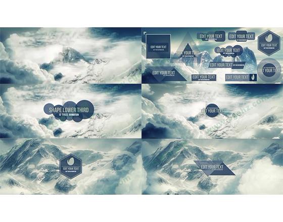 12款图形组合的字幕AE模板