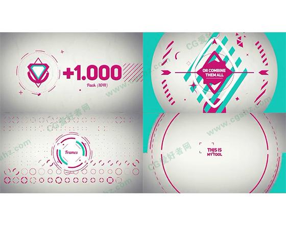 1000多款图形动画展示AE模板