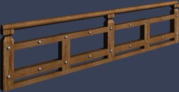 中式木头护栏
