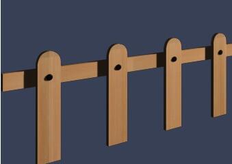 简洁木护栏模型