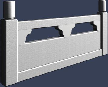 水泥栏杆模型