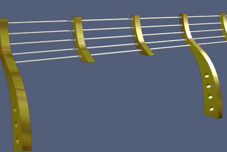 穿孔金属护栏模型