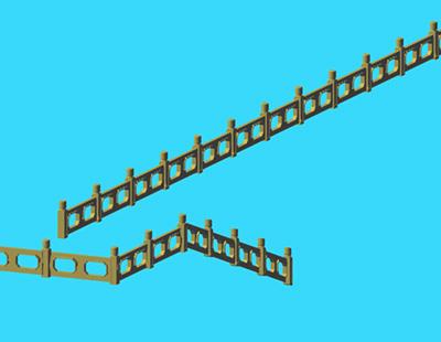 常见的水泥护栏3D模型下载
