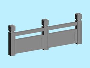 景观常用的石材护栏MAX模型免费下载