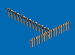 简易木头护栏模型