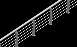 简洁金属护栏3D模型下载