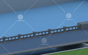 石材河岸护栏3D模型下载