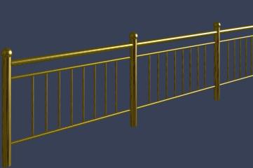 铁艺栏杆模型