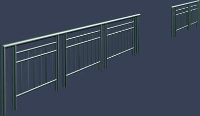 金属护栏模型