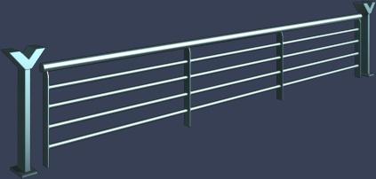 Y型柱子铁艺栏杆