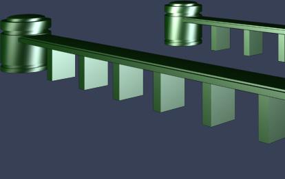 低矮石材护栏模型