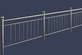 铁艺护栏模型下载