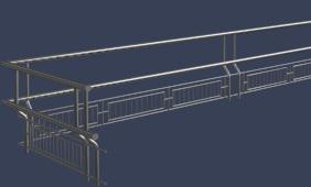 围合形金属栏杆模型免费下载