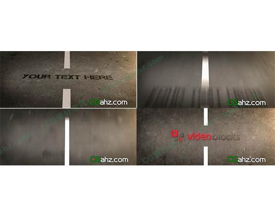 公路上的字幕展示AE模板