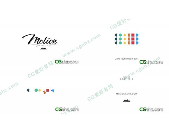 简洁的图形动画AE模板