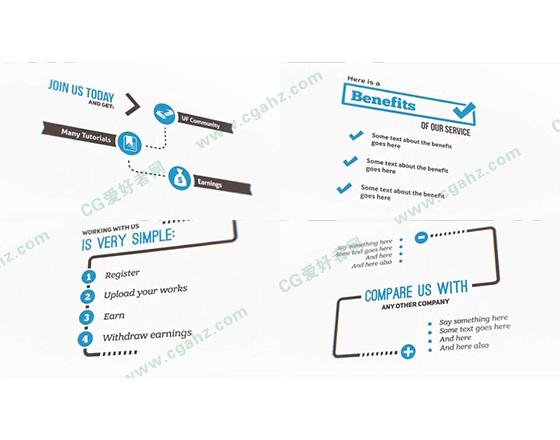 企业产品宣传解说创建器AE模板