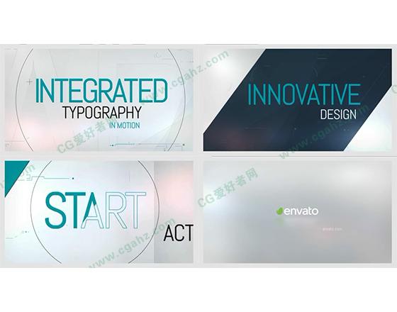 赋有创意的文字排版动画AE模板