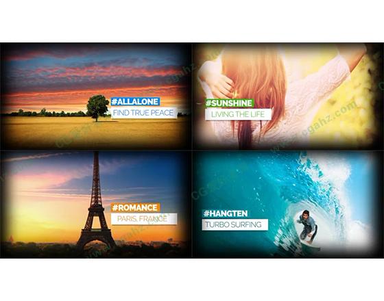 旅行幻灯片交替展示AE模板
