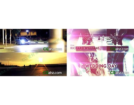 《时光》光效主题视频宣传展示AE模板