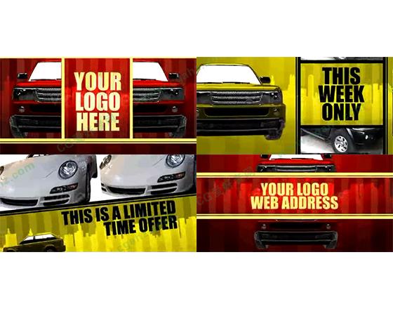 3D效果的汽車促銷廣告包裝動畫