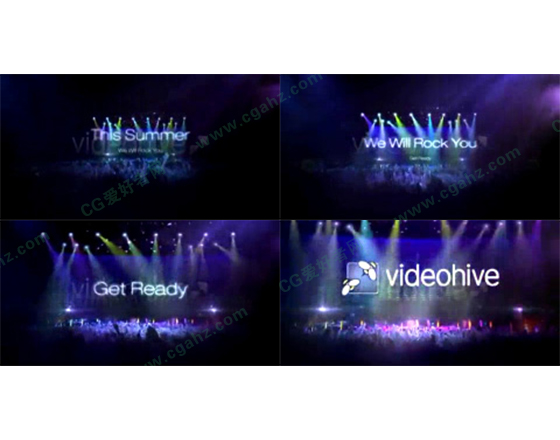 8秒版明星演唱会宣传片头AE模板