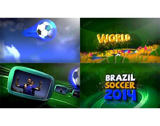 2014巴西世界杯全套包装设计AE模板