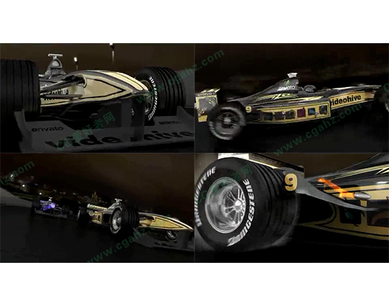 F1赛事开场片头动画AE模板