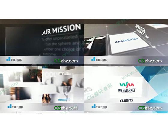 现代企业商务宣传演示片AE模板