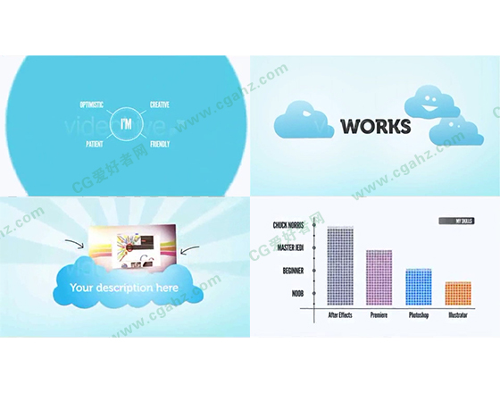 清新简约的企业,产品宣传动画AE模板