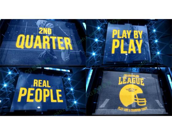 三维大屏幕体育栏目包装AE模板
